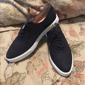 Never worn Kate Spade Navy Suede Oxfords 👞